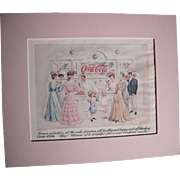 c1905 Matted Coca Cola Magazine Advertisement #5 (Double Sided)