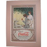 c1920 Matted Coca Cola Magazine Advertisement #12