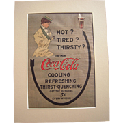 1908 Matted Coca Cola Magazine Advertisement #13
