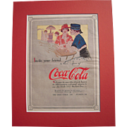 c1915 Matted Coca Cola Magazine Advertisement #14