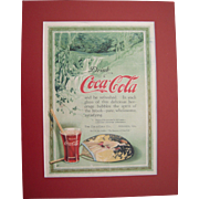 1916 Matted Coca Cola Magazine Advertisement #16