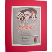 c1920s Matted Coca Cola Magazine Advertisement #18