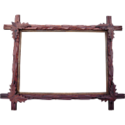 """Carved Walnut Picture Frame w/Corner Leaves 10"""" x 14"""" #1 - Red Tag Sale Item"""