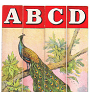 Set of 8 Victorian Childrens Bird & Alphabet Strip Puzzles
