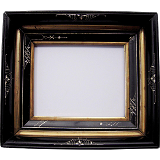 "Deep Ebonized Black Eastlake Picture Frame 8"" x 10"""