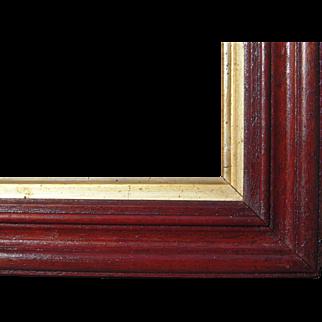 "Victorian Era Walnut Picture w/Gold Liner 11"" x 15"""