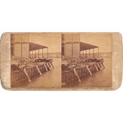1860 Stereoview of Cuba Havana Sugar Warehouse #84