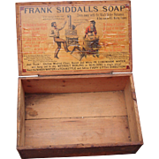 Victorian Store Advertising Display Box Frank Siddalls Soap