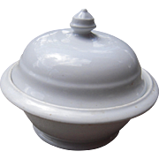 "c1890s Ironstone Small Covered Bowl ""John Edwards"""