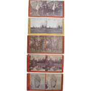 Lot of 5 1870s Yosemite California Stereoviews