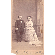 1860s CDV Photo of Tom Thumb and Wife