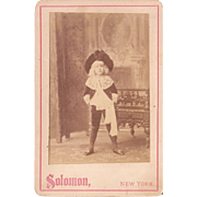 "Advertising Cabinet Card Photo for Play ""Little Lord Fauntleroy"""