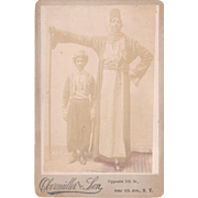 Cabinet Card Photo of Giant Man
