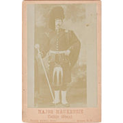 Cabinet Card Photo of Celtic Giant, Major Mackenzie
