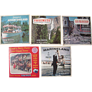 Lot 5 Packs California Viewmaster Reels 1950s/1960s