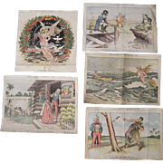 Lot 5 Color 1890s/1900s Lithograph Political Cartoons