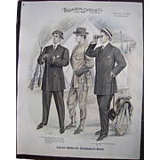 "Large 1910 Men""s Fashion Print ""National Guard Encampment"""