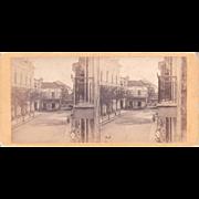 1860 Stereoview of Cuba #181 Havana Street Scene