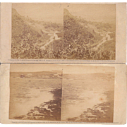Pair 1860 Landscape Stereoviews of Cuba #124 and #49