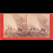 1870s Stereoview Devil's Tea Kettle Geysers CA