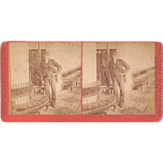1870s California Stereoview Interior of  Steamer Oakland
