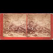 1870s California Geysers Stereoview Indian Sweat Bath