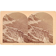 Stereoview of Train at White Mountains, NH