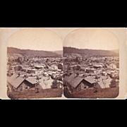 Stereoview of Bradford, PA w/Oil Wells