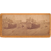 1870s Stereoview Train at Pittsburgh, PA