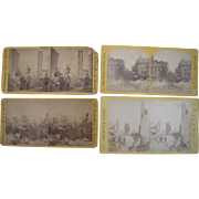 Lot of 4 1872 Boston Fire Stereoviews