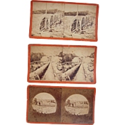 Lot 3 Sudbury River Conduit Construction Stereoviews (MA)