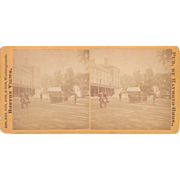 Stereoview Soldiers at Boston Navy Yard