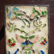 Vintage Cloisonne Match Box Holder