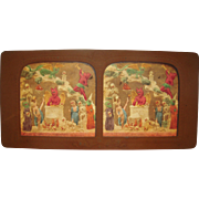 French Hand Colored Tissue Stereoview Diableries #3
