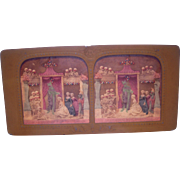 French Hand Colored Tissue Stereoview Diableries #4