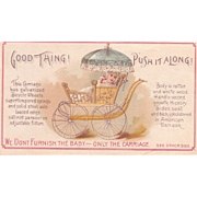 Wrigley's Gum Advertising Trade Card