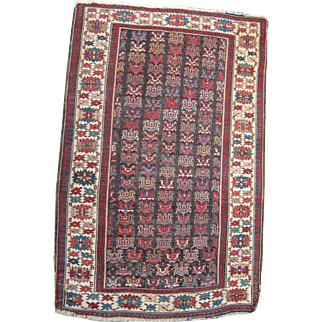 19th Century Antique Caucasian Rug 3' x 5'
