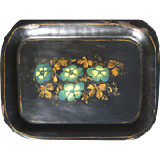 Early 1900s Hand Decorated Primitive Metal Tray