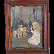 c1900-1910 Jessie Wilcox Smith Print in Period Frame