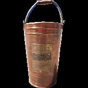 Vintage Lofstrand Co. Copper Fire Extinguisher