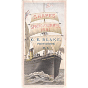 1881 Victorian Advertising Trade Card w/Ship