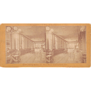 c1870s/1880s Stereoview Howe's Sewing Machine Showroom in New York City