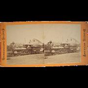 c1880 Stereoview Closeup of Locomotive