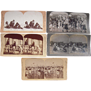 Lot of 5 Coney Island Beach Stereoviews