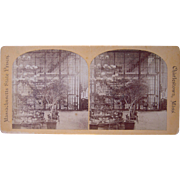 c1880 Stereoview Interior of Massachusetts State Prison in Boston