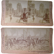 Lot of 15 San Francisco Earthquake Stereoviews (Kilburn)