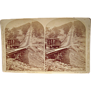 c1880s Stereoview Inclined Railway at Mauch Chunk, PA