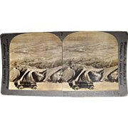 Stereoview of Early Automobile near Colorado Springs, CO