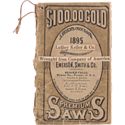 1895 Saw Advertising Booklet - Red Tag Sale Item