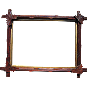 "Victorian Carved Eastlake Walnut Picture Frame w/Decorative Corner Leaves 10"" x 14"""